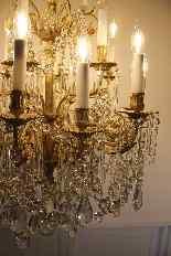 Бронзовые люстры и Баккара кристалл с 18 огнями, девятнадцатыми-14