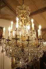 Бронзовые люстры и Баккара кристалл с 18 огнями, девятнадцатыми-11