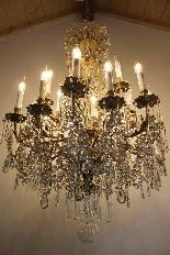 Бронзовые люстры и Баккара кристалл с 18 огнями, девятнадцатыми-1