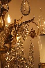 Бронзовые люстры и Баккара кристалл с 18 огнями, девятнадцатыми-7