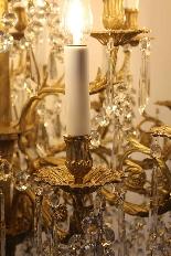 Бронзовые люстры и Баккара кристалл с 18 огнями, девятнадцатыми-5