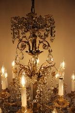 Бронзовые люстры и Баккара кристалл с 18 огнями, девятнадцатыми-6