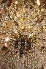 Бронзовые люстры и Баккара кристалл с 18 огнями, девятнадцатыми-16