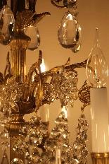 Бронзовые люстры и Баккара кристалл с 18 огнями, девятнадцатыми-10