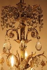 Бронзовые люстры и Баккара кристалл с 18 огнями, девятнадцатыми-4
