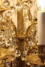 Бронзовые люстры и Баккара кристалл с 18 огнями, девятнадцатыми-9