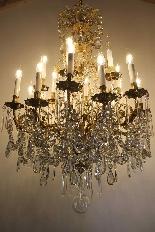 Бронзовые люстры и Баккара кристалл с 18 огнями, девятнадцатыми-2