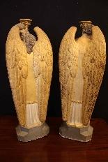 céroféraires пара ангелов в терракотовом, Венето девятнадцатый ЕКСЕ-4