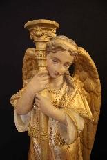 céroféraires пара ангелов в терракотовом, Венето девятнадцатый ЕКСЕ-1