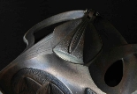 Antico calamaio in metallo Liberty-2