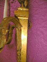 Пара позолоченных бронзовых канделябров-7