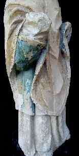 Holy Bishop Polychrome limestone 14th century Moye-7