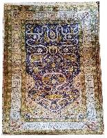 Tapis Ottoman En Soie - (asie Mineure, Turquie) 20ème Siècle-0