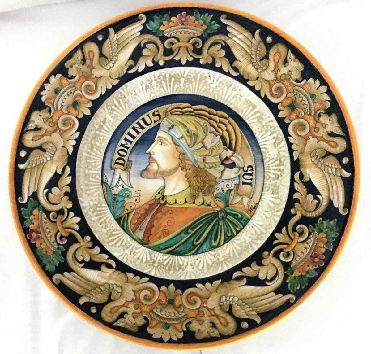 Plaque céramique Deruta de 900 Sec XX D:. 45cm
