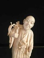 Окимоо слоновая кость японская школа в Токио Мэйдзи (1868-1912)-2