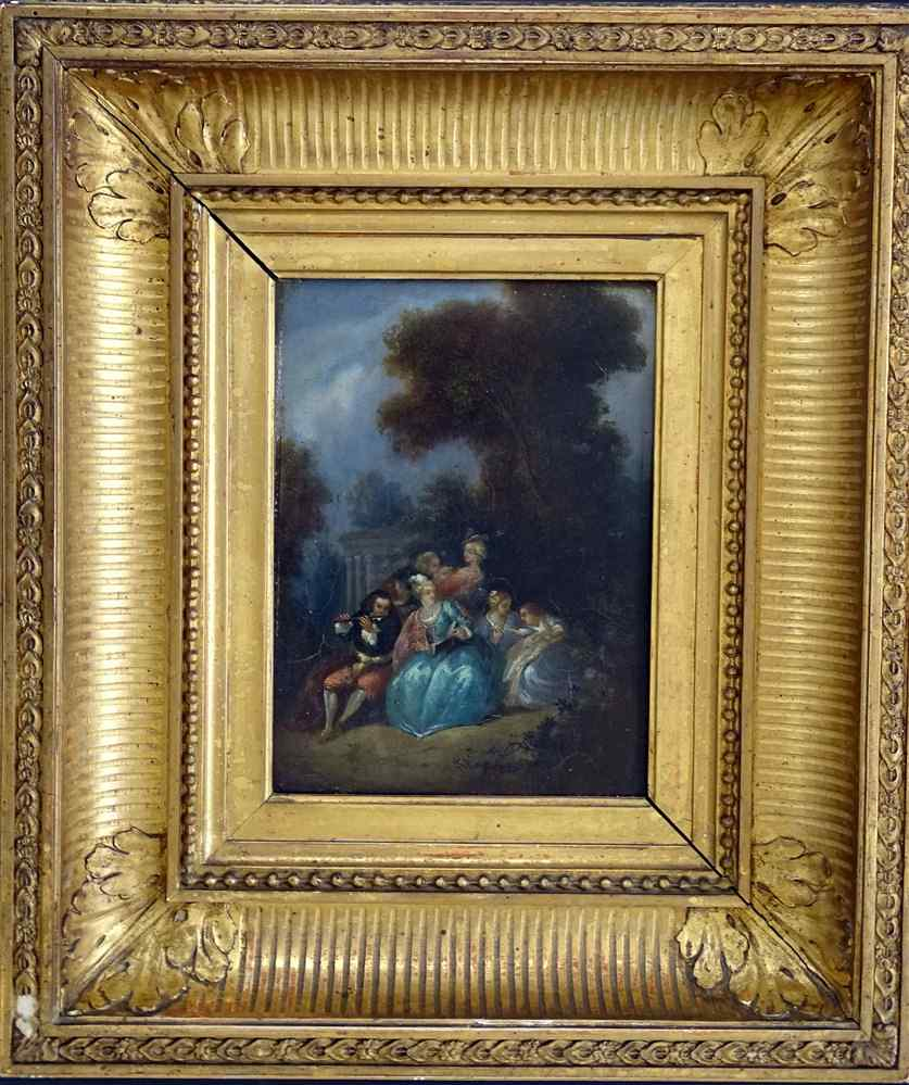 Fantasy Galante Antoine WATTEAU (Follower) and a Pair