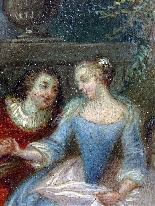 Fantasia Galante Antoine WATTEAU (follower) ed una coppia-8