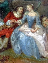 Fantasia Galante Antoine WATTEAU (follower) ed una coppia-2
