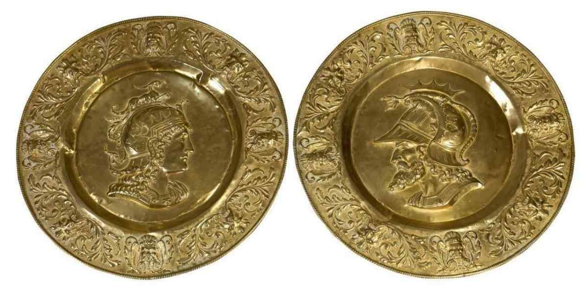 Paire de plats italiens de 800 Sec. XIX