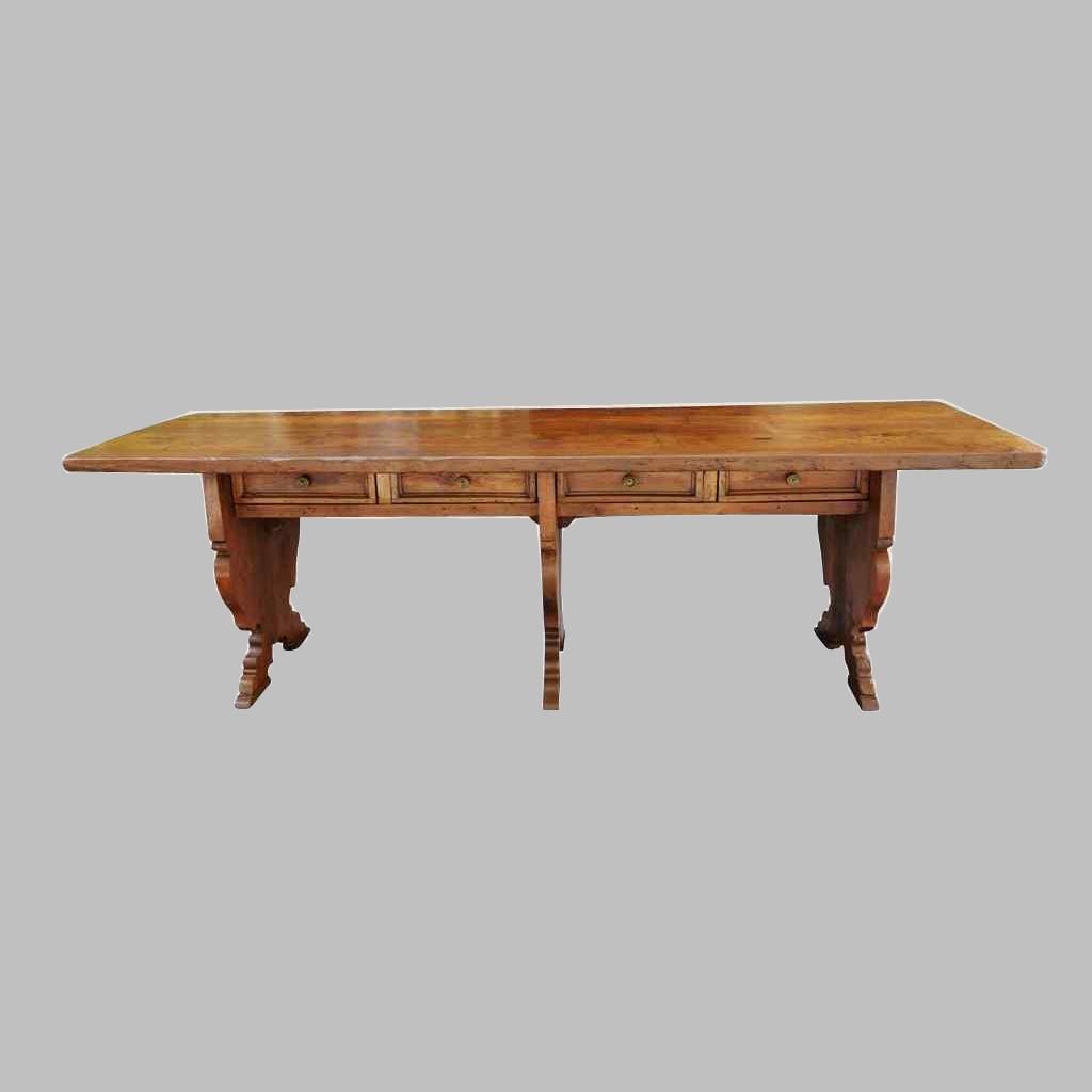 Grande e raro tavolo da parata XVII secolo - Italia