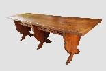Grande e raro tavolo da parata XVII secolo - Italia-1