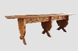 Grande e raro tavolo da parata XVII secolo - Italia-0