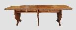 Grande e raro tavolo da parata XVII secolo - Italia-11