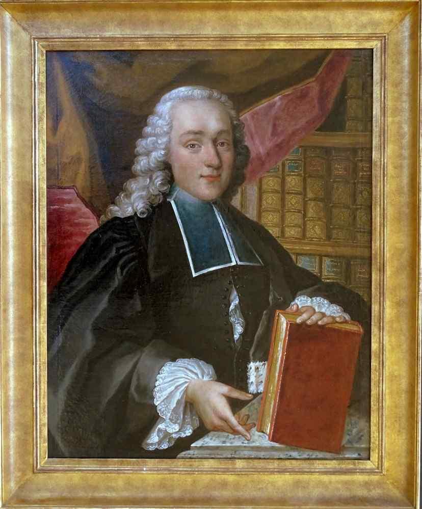Ritratto di una scuola francese giovane avvocato 18 ° secolo