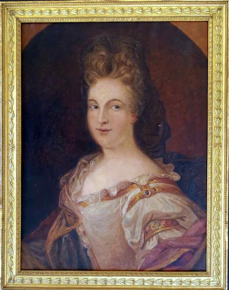 French School Early 19th Portrait of Lady of Quality