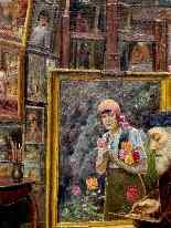 Henry-Marie Charry 1878 Self Portrait In His Workshop-10