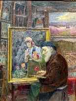 Henry-Marie Charry 1878 Self Portrait In His Workshop-6