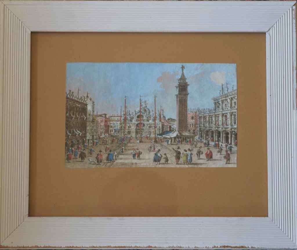 Giacomo Guardi - Veduta animata di Piazza San Marco
