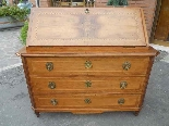 Antique Louis XVI Chest of drawers Bureau in walnut - 18th-4