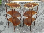 Antique Pair Napoleon III Etageres Shelves Tables -19th cent-5