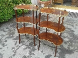 Antique Pair Napoleon III Etageres Shelves Tables -19th cent-1