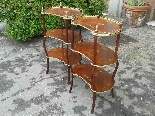 Antique Pair Napoleon III Etageres Shelves Tables -19th cent-3