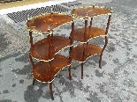 Antique Pair Napoleon III Etageres Shelves Tables -19th cent-2