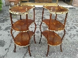 Antique Pair Napoleon III Etageres Shelves Tables -19th cent-4