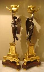 Империя подсвечники Пара «» крылатых побед «»-4