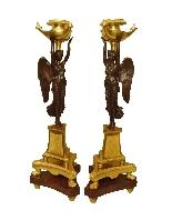 Империя подсвечники Пара «» крылатых побед «»-0