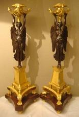 Империя подсвечники Пара «» крылатых побед «»-3