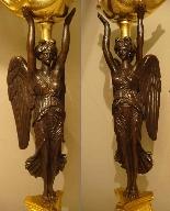 Империя подсвечники Пара «» крылатых побед «»-5