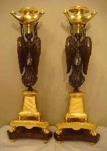 Империя подсвечники Пара «» крылатых побед «»-2