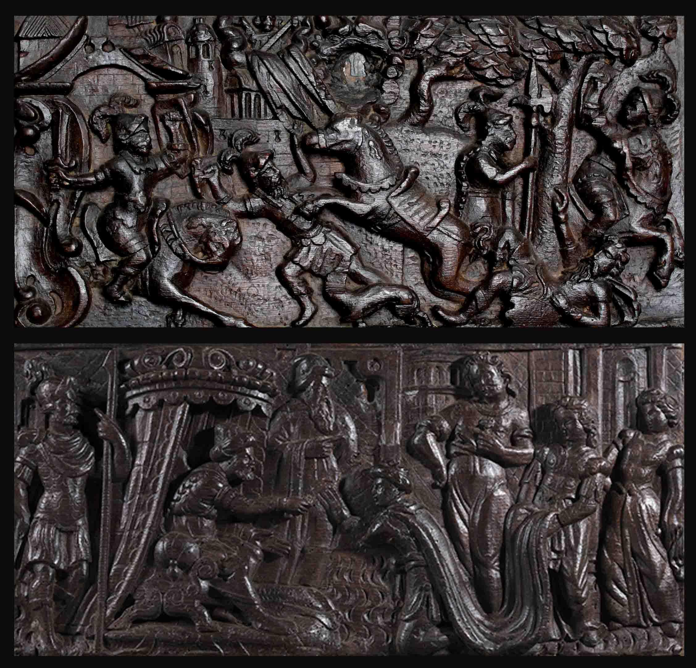 Fine XVI secolo - Scena di battaglia  Scena cortese