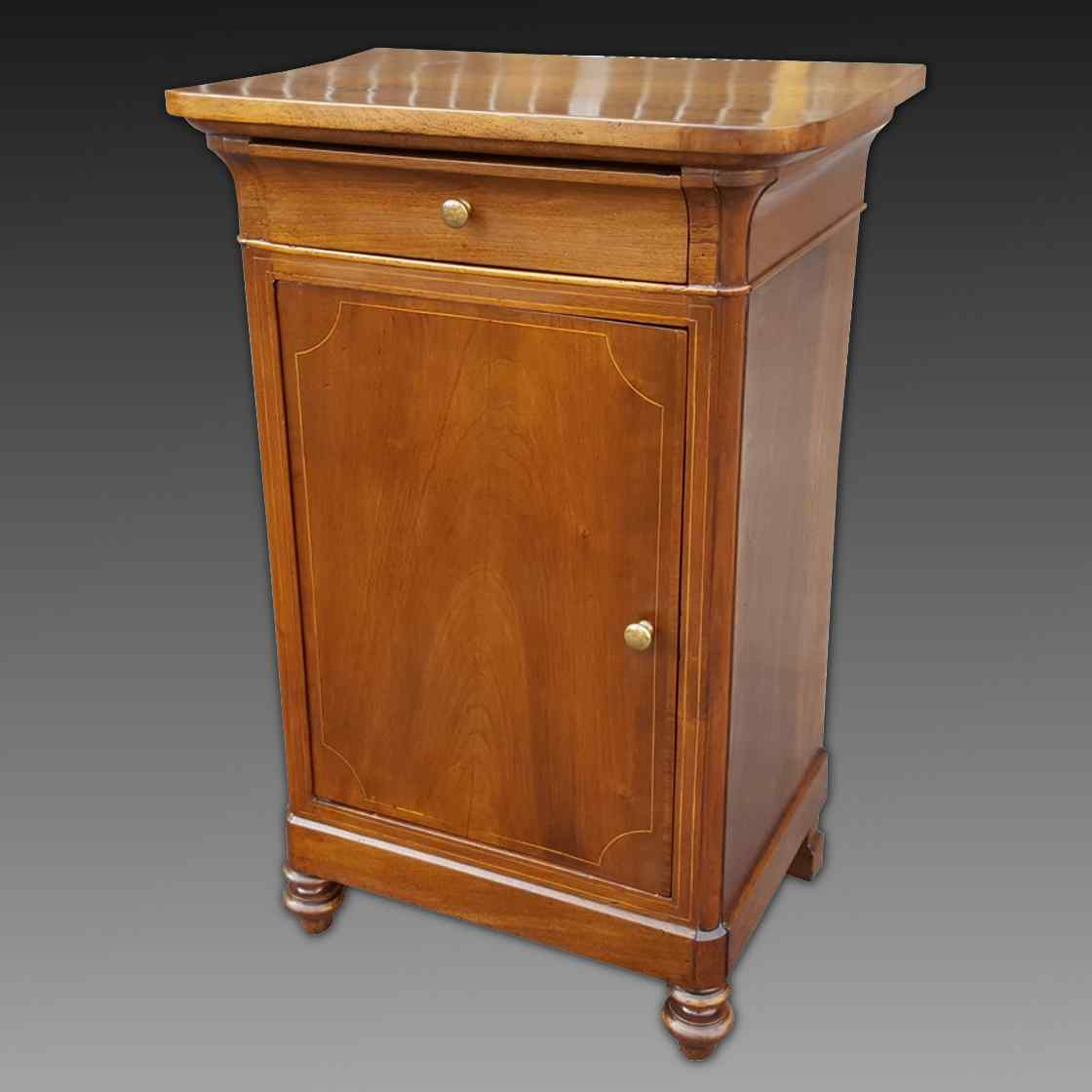 Antique Louis Philippe Bedside table in walnut - Italy 19th