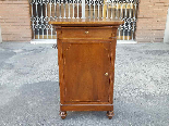 Antique Louis Philippe Bedside table in walnut - Italy 19th-2