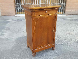 Antique Louis Philippe Bedside table in walnut - Italy 19th-1