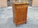 Ancien Table de Chevet Louis Philippe en noyer -Italie 19ème-1