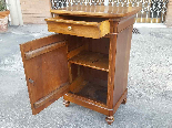 Antique Louis Philippe Bedside table in walnut - Italy 19th-5