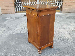 Antique Louis Philippe Bedside table in walnut - Italy 19th-4